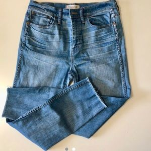 Madewell high rise skinny jeans EUC